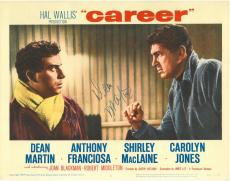 Dean Martin Signed Career Authentic Autographed 11x14 Lobby Card PSA/DNA LOA