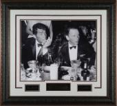 Dean Martin unsigned Cocoanut Grove LA Drinking Signature Series B&W 16x20 Photo Leather Framed w/ Frank Sinatra (entertainment)