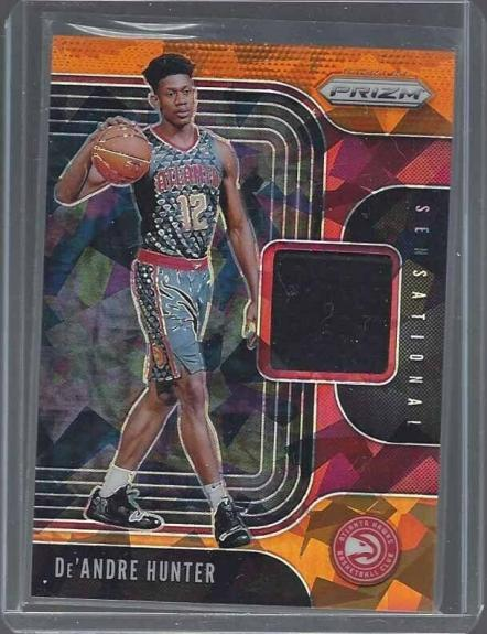 Deandre Hunter 2019-20 Panini Prizm Sensational Orange Ice Rookie Jersey Rc
