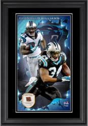 DeAngelo Williams Carolina Panthers 10'' x 18'' Vertical Framed Photograph with Piece of Game-Used Football - Limited Edition of 250