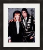Debbie Gibson autographed 8x10 Photo (Singer pictured with Michael Jackson)  #SC4 Matted & Framed