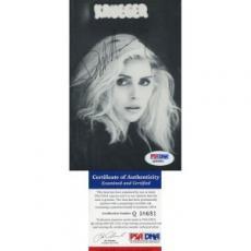 Debbie Harry Blondie Autographed 4X6 Photo PSA