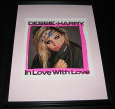 Debbie Harry Signed Framed 1987 In Love with Love Record Album Display JSA