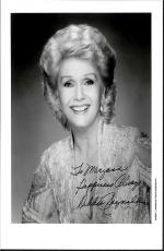 Debbie Reynolds, Actress Deceased Carrie Fisher's Mom Signed 8x10 With Coa