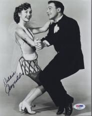 DEBBIE REYNOLDS HAND SIGNED 8x10 PHOTO      AWESOME POSE WITH GENE KELLY    PSA