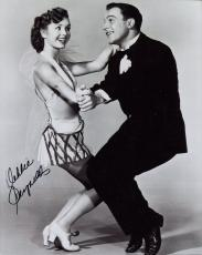 DEBBIE REYNOLDS HAND SIGNED 8x10 PHOTO+COA       DANCING WITH GENE KELLY
