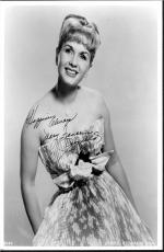 Debbie Reynolds, Signed Deceased Carrie Fisher's Mom Pretty Dress 8x10 With Coa
