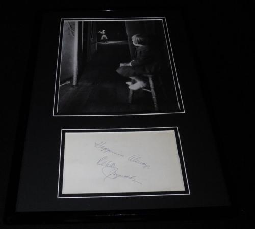 Debbie Reynolds Signed Framed 11x17 Photo Display w/ young Carrie Fisher