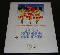 Debbie Reynolds Signed Framed 16x20 Poster Photo Display Singin in the Rain