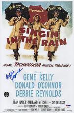 Debbie Reynolds Signed Singin' In The Rain 10x15 Movie Poster Psa Coa P64303