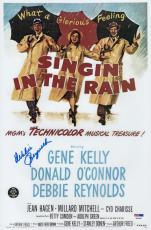 Debbie Reynolds Signed Singin' In The Rain 10x15 Movie Poster Psa Coa P64305