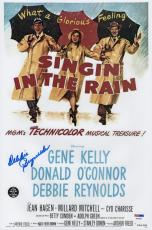 Debbie Reynolds Signed Singin' In The Rain 10x15 Movie Poster Psa Coa P64306
