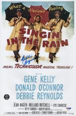 Debbie Reynolds Signed Singin' In The Rain 10x15 Movie Poster Psa Coa P64307
