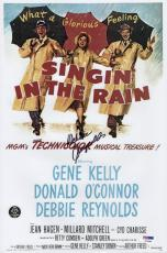 Debbie Reynolds Signed Singin' In The Rain 10x15 Movie Poster Psa Coa P79485