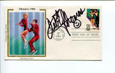 Debi Thomas US Olympic Bronze Figure Skater Signed Autograph Silk FDC
