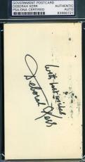 Deborah Kerr Hand Signed Psa/dna Gpc 3x5 Authentic Autograph