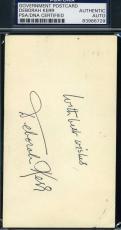 Deborah Kerr Hand Signed Psa/dna Gpc 3x5 Authenticated Autograph