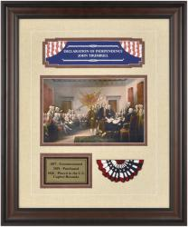 Declaration Of Independence Framed Painting (trumbull)plate