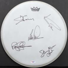Deep Purple (5) Gillian, Paice, Morse, Airey, Glover Signed 15 Inch Drumhead PSA