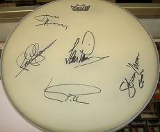 Deep Purple Signed Drumhead Ian Gillian Pace Steve Morse White Drum Head w/COA