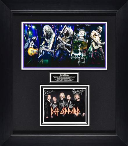 Def Leppard Autographed Framed Display