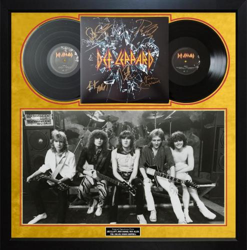 Def Leppard Autographed Ltd Ed 180g Vinyl Album LP Framed Custom Display