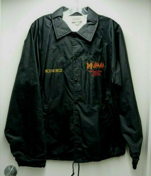 Def Leppard Band REAL Crew 1993 Sheffield World Tour Issued Large Jacket SS2