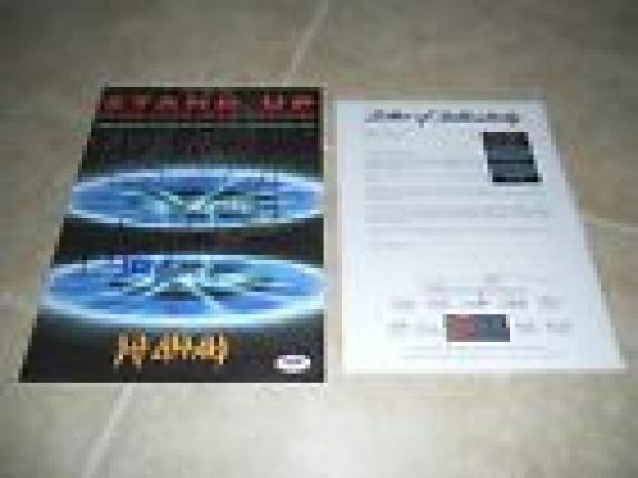 Def Leppard Band Signed Autographed Sheet Music Stand Up x4 PSA Certified