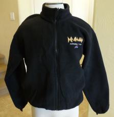 Def Leppard Euphoria 2009 Tour REAL Crew Issued Full Zip Fleece Jacket
