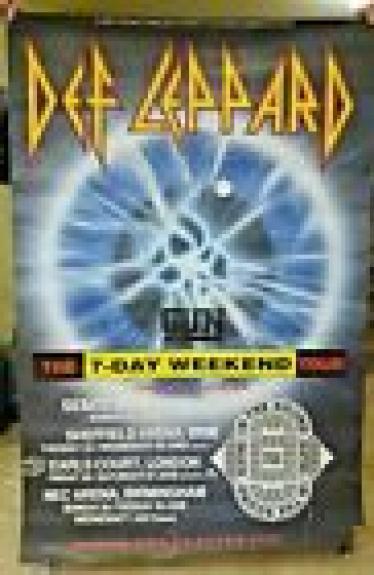 Def Leppard Huge 40x60 1992 7 Day Weekend Depot UK Concert Poster 100% Real