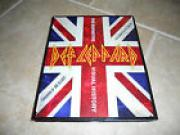 Def Leppard Signed Visual Book Joe, Savage Phil 1st Ed. HB PSA Certified