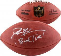 Deion Sanders Autographed Duke Pro NFL Football with Prime Time Inscription