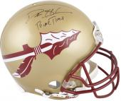 "Deion Sanders Florida State Seminoles Autographed Riddell Pro-Line Authentic Helmet with ""Prime Time"" Inscription"