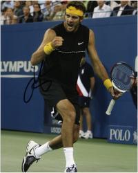 """Juan Del Potro Autographed 8"""" x 10"""" Black Shirt Fist Pump Photograph"""