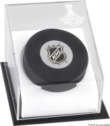 Los Angeles Kings 2014 Stanley Cup Champions Hockey Puck Logo Display Case - Mounted Memories