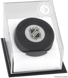 Winnipeg Jets Hockey Puck Logo Display Case - Mounted Memories