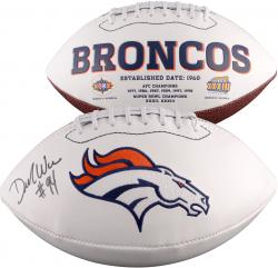 Demarcus Ware Denver Broncos Autographed White Panel Football