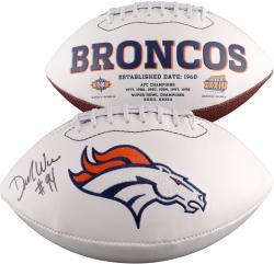 Demarcus Ware Denver Broncos Autographed White Panel Football