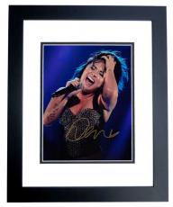 Demi Lovato Signed - Autographed Concert 8x10 inch Photo BLACK CUSTOM FRAME - Guaranteed to pass PSA or JSA