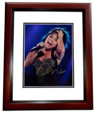 Demi Lovato Signed - Autographed Concert 8x10 inch Photo MAHOGANY CUSTOM FRAME - Guaranteed to pass PSA or JSA