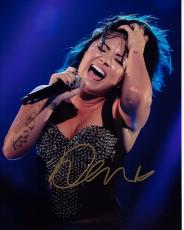 Demi Lovato Signed - Autographed Concert 8x10 inch Photo - Guaranteed to pass PSA or JSA