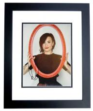Demi Lovato Signed - Autographed Sexy Singer - Actress 8x10 inch Photo BLACK CUSTOM FRAME - Guaranteed to pass PSA or JSA