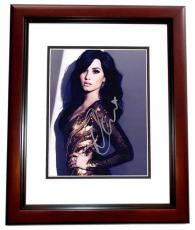 Demi Lovato Signed - Autographed Sexy Singer - Actress 8x10 inch Photo MAHOGANY CUSTOM FRAME - Guaranteed to pass PSA or JSA