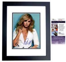Demi Lovato Signed - Autographed Singer - Actress 11x14 Photo BLACK CUSTOM FRAME  - JSA Certificate of Authenticity