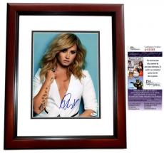 Demi Lovato Signed - Autographed Singer - Actress 11x14 Photo MAHOGANY CUSTOM FRAME  - JSA Certificate of Authenticity