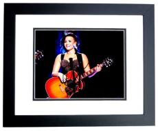 Demi Lovato Signed - Autographed Singer - Actress 8x10 inch Photo - BLACK CUSTOM FRAME - Guaranteed to pass PSA/DNA or JSA