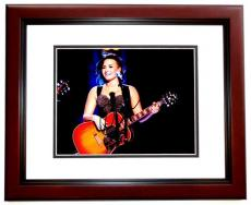 Demi Lovato Signed - Autographed Singer - Actress 8x10 inch Photo - MAHOGANY CUSTOM FRAME - Guaranteed to pass PSA/DNA or JSA