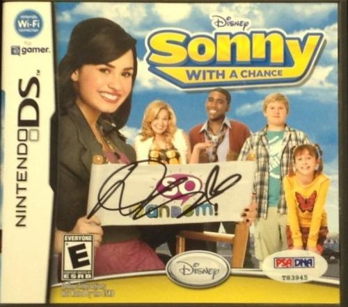 Demi Lovato signed Cover Nintendo DS Game PSA/DNA #T83945