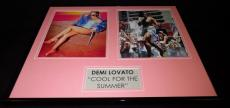 Demi Lovato Signed Framed 16x20 Photo Set Cool for the Summer
