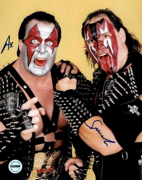 Demolition Ax & Smash WWF WWE WCW Autographed 8x10 Photo FSG Authen 4